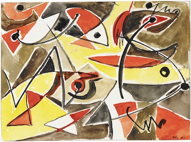Ernst Wilhelm Nay - Abstrakte Komposition